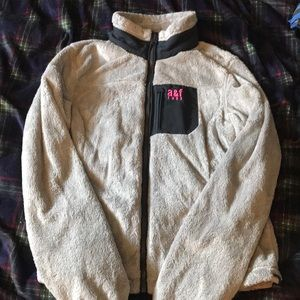 Grey north face style zipper up